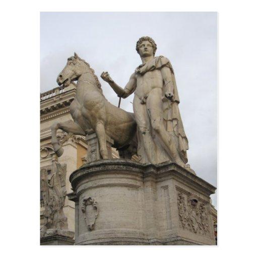 Rome Statue Postcard