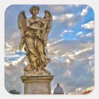 Rome Statue Square Sticker