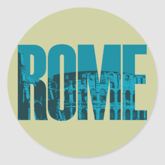 Rome Round Stickers