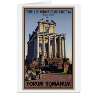 Rome - Temple of Antoninus and Faustina Card