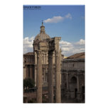 Rome - Temple of Vespasian and Titus Poster