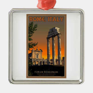 Rome - Temple Ruins in Forum Romanum Metal Ornament