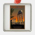Rome - Temple Ruins in Forum Romanum Christmas Tree Ornament