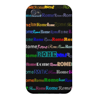 Rome Text Design I  Covers For iPhone 4