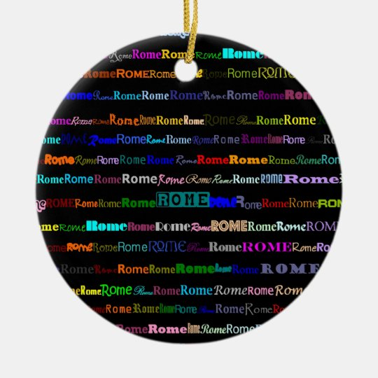 Rome Text Design I Ornament