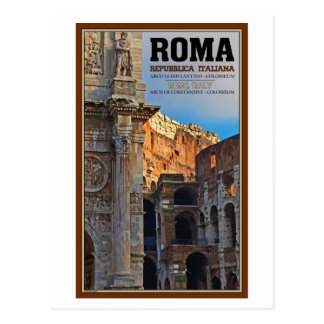 Rome - the Arch of Constantine and the Colosseum Postcard