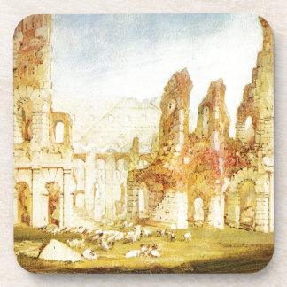Rome, The Colosseum by William Turner Beverage Coaster