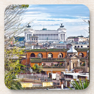 Rome, the eternal city. beverage coaster