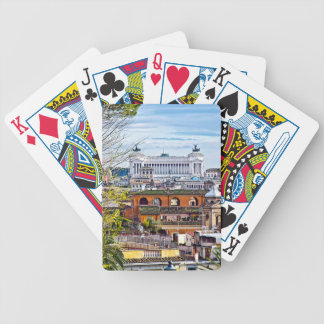 Rome, the eternal city. bicycle playing cards