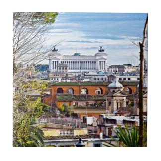 Rome, the eternal city. ceramic tile