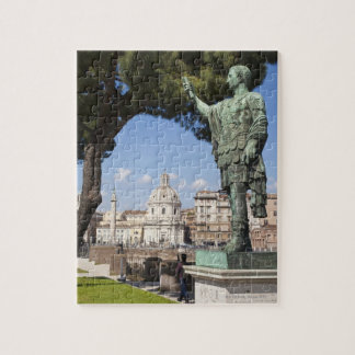 Rome, the Forum, statue of Cesar Jigsaw Puzzle