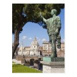 Rome, the Forum, statue of Cesar Postcard