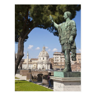 Rome, the Forum, statue of Cesar Postcard