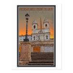 Rome - The Spanish Steps Postcard