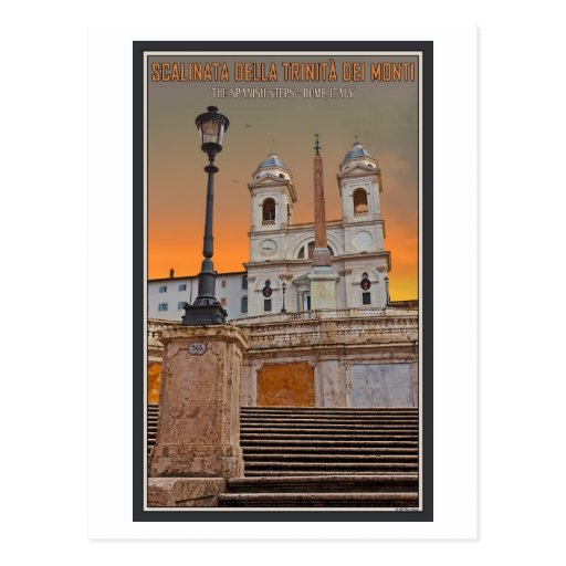 Rome - The Spanish Steps Post Cards