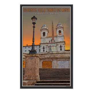 Rome - The Spanish Steps Poster
