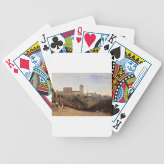 Rome, the Trinita dei Monti View from the Gardens Bicycle Playing Cards