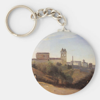 Rome, the Trinita dei Monti View from the Gardens Keychain