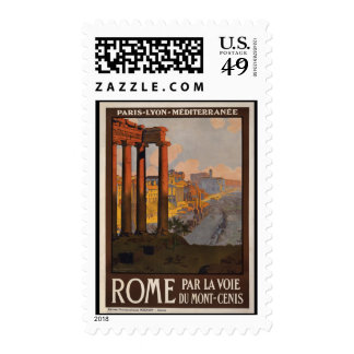 Rome through the Mont-Cenis Stamps