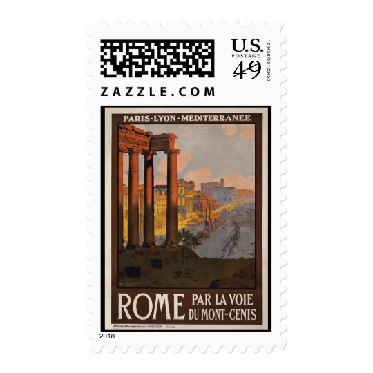 Rome through the Mont-Cenis Postage
