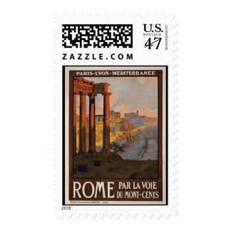 Rome through the Mont-Cenis Postage Stamp