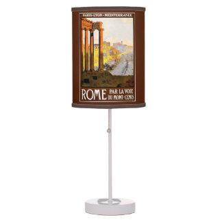 Rome Travel Poster Vintage Desk Lamp