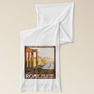 Rome Travel Poster Vintage Scarf