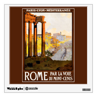 Rome Travel Poster Vintage Room Graphic