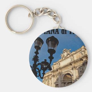 Rome - Trevi Fountain Basic Round Button Keychain