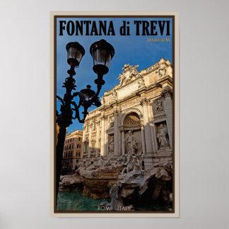 Rome - Trevi Fountain Poster