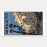 Rome - Trevi Fountain Rectangular Sticker