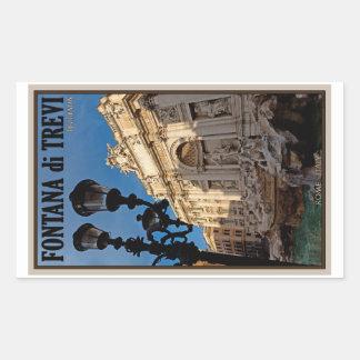 Rome - Trevi Fountain Rectangle Sticker