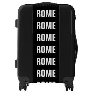 ROME, Typo black / white (Rom, Roma) Luggage