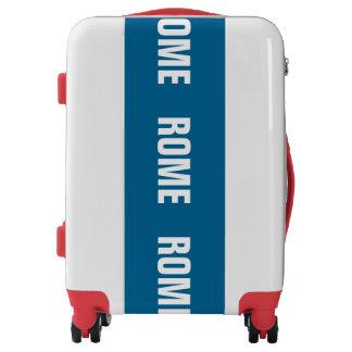 ROME, Typo white / blue (Rom, Roma) Luggage
