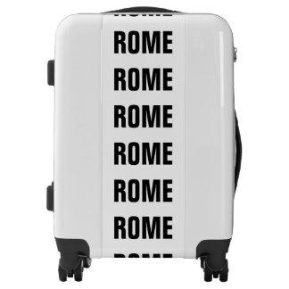 ROME, Typo white (Rom, Roma) Luggage