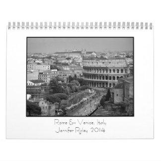 Rome Venice Italy - 2014 Calendar
