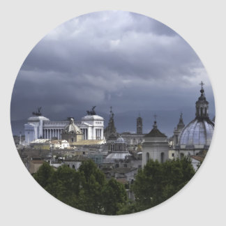 Rome View from Castel Sant'Angelo Classic Round Sticker