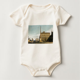 Rome: View of the Piazza di San Giovanni Baby Bodysuit