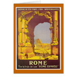 """""""Rome"""" Vintage French Travel Poster Greeting Cards"""