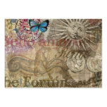 Rome Vintage Italy Travel Collage Large Business Card
