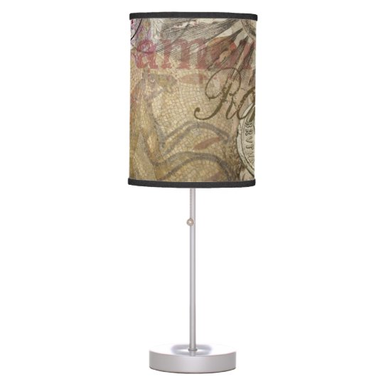 Rome Vintage Italy Travel Collage Table Lamp