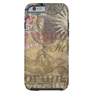 Rome Vintage Italy Travel Collage Tough iPhone 6 Case