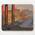 """Rome"" Vintage Travel Poster Mouse Pad"