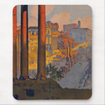 """""""Rome"""" Vintage Travel Poster Mouse Pad"""