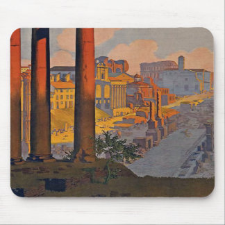 Rome Vintage Travel Poster Mouse Pad