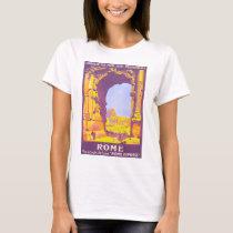 Rome Vintage Travel Poster T-Shirt