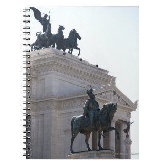 Rome. Vittorio Emanuele monument Spiral Notebook