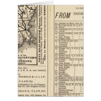 Rome, Watertown and Ogdensburg Railroad 2 Greeting Card