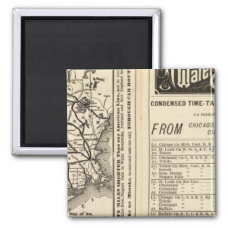 Rome, Watertown and Ogdensburg Railroad 2 2 Inch Square Magnet