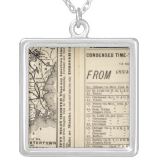 Rome, Watertown and Ogdensburg Railroad 2 Square Pendant Necklace